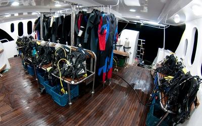 Dive deck Boat Andromeda
