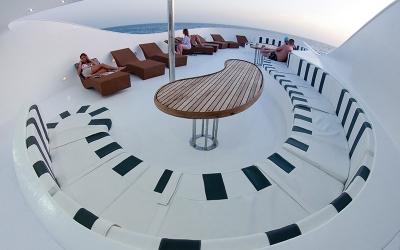 Sun deck Boat Andromeda