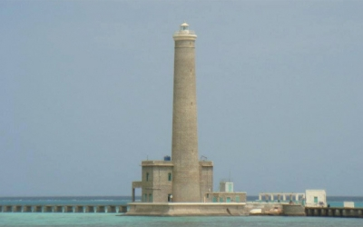 Sanganeb lighthouse in Sudan