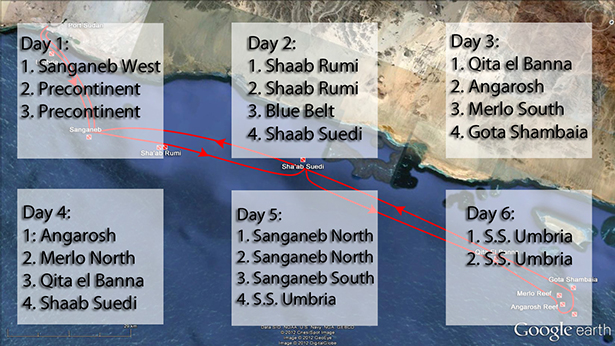 Dive sites in Sudan