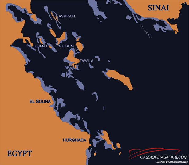 Kitesafari Egypt map