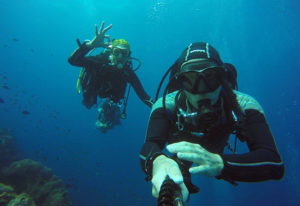 perfect selfie underwater